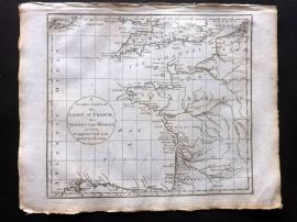 Cary 1801 A Complete Chart of the Coast of France from Ostend to Cape Finisterra